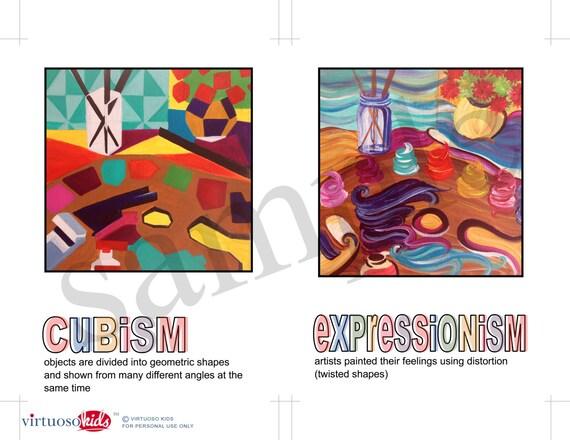 MODERN ART MOVEMENTS Printable Educational Party Art Banner - Artwork - you  print