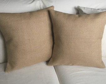 Set of 2 Burlap Pillow Covers - *SHIPS Within 3 DAYS!