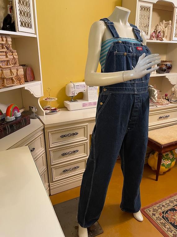 Vintage 80's Dickies denim overalls - image 1