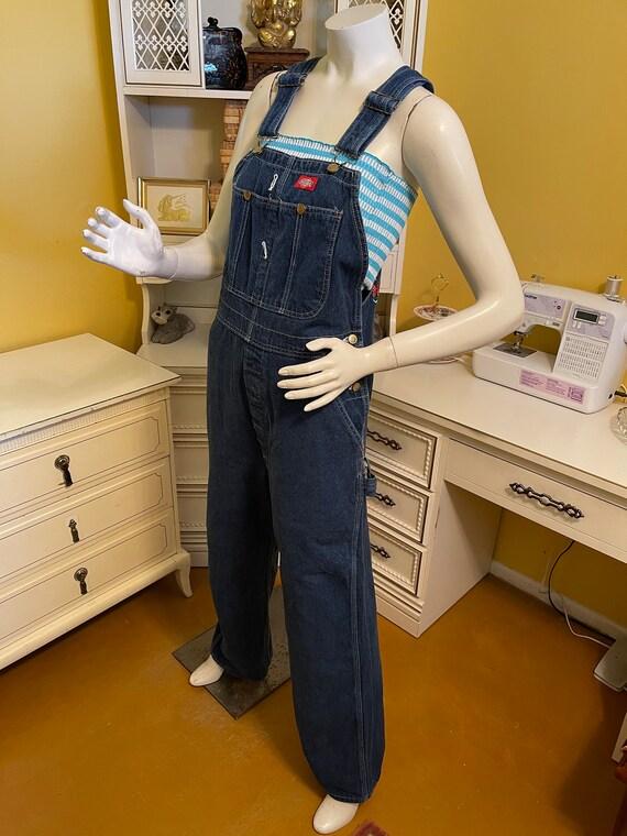 Vintage 80's Dickies denim overalls - image 2