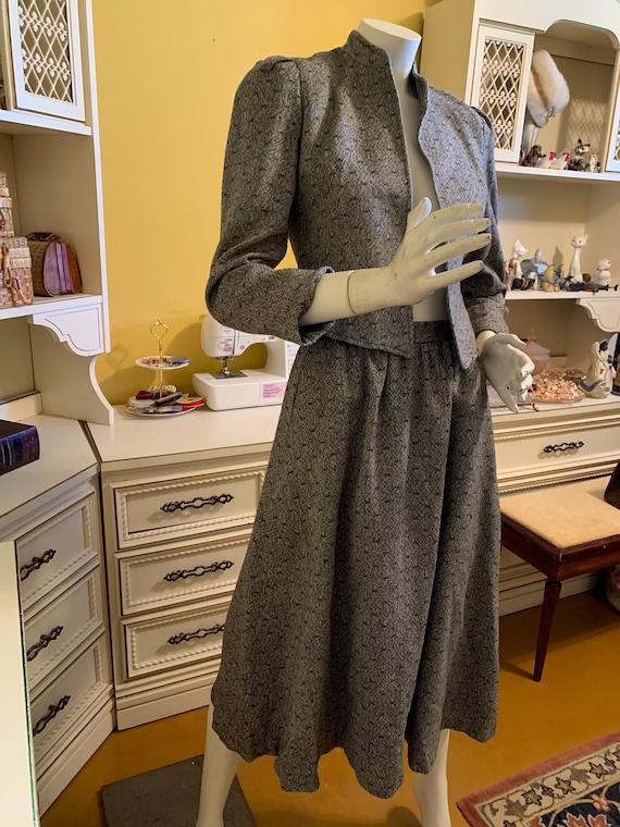 Vintage 80's Cassidy wool skirt set.