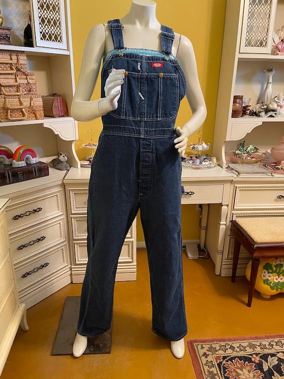 Vintage 80's Dickies denim overalls - image 4