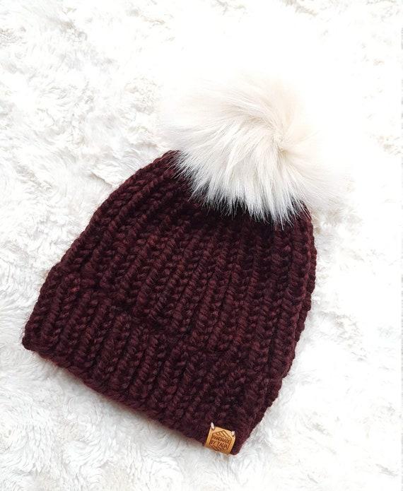 Women s Burgundy Winter Hat  55555ac5b160