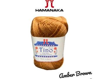 Hamanaka Tino Yarn Perfect for Knitting Crochet and Amigurumi! Peanut Butter #3