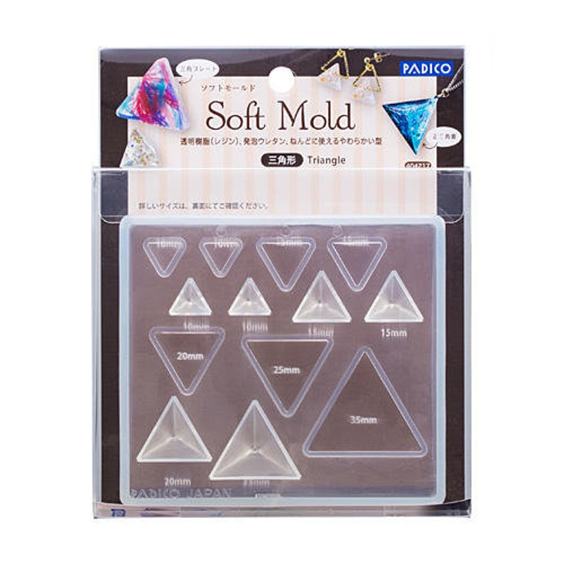 Perfect for UV Resin and Clay Crafts Padico Soft Mold Triangles and Pyramids Make Beautiful Jewellery!