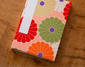 """Corazon Chirimen Fabric Folding Stampbook - """"Kiku"""" Chrysanthemum - Pink (Made in Kyoto, Japan)"""