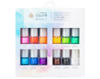 2021 Padico Jewel Pigment 12 Colour Set -  For UV and LED Resin Crafts.
