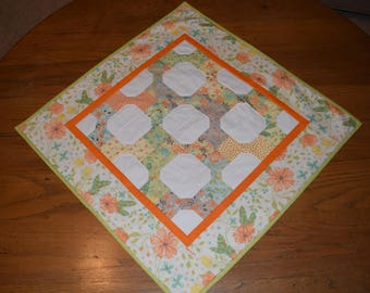 """Quilted Spring Table Topper  24"""" sq"""