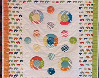 RESERVED FOR SARA Modern Organic Cotton Baby Quilt Birch Fabric
