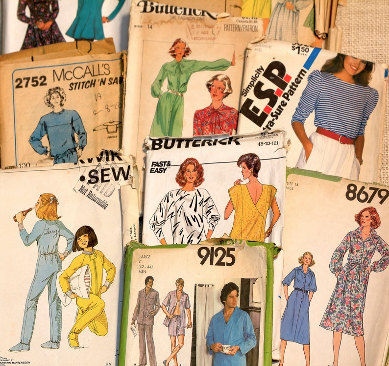 Simplicity Vintage Pattern Butterick SEE SEW McCall/'s Superman Children Mens Crafts /& Unisex New Look Sewing Patterns for Womens