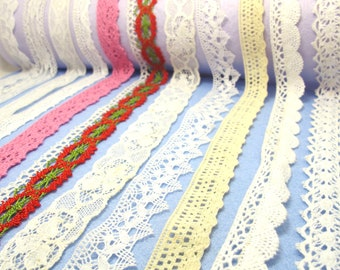 """Vintage Style 7//8/""""//2.2cm Ivory Cream Cotton Cluny Crochet Lace Trim Sewing//Craft"""