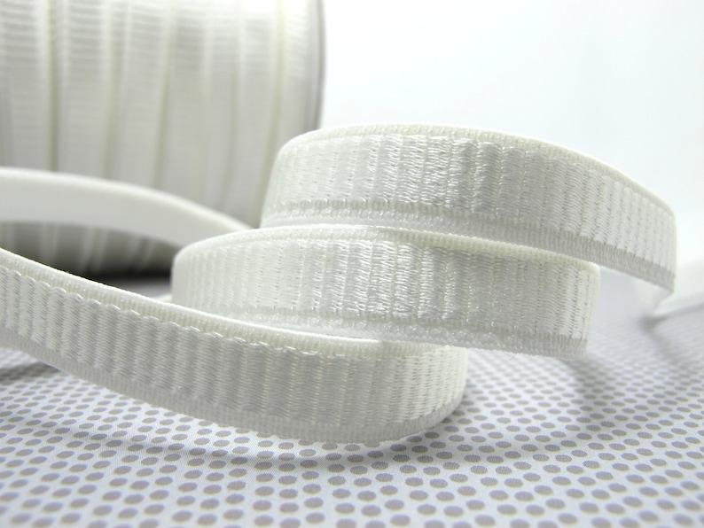 EL121 CLEARANCE|8 Yards 38 Inch Ivory White Decorative Pattern Lingerie Elastic Headband Elastic|Skinny Narrow Stretch Bra Strap