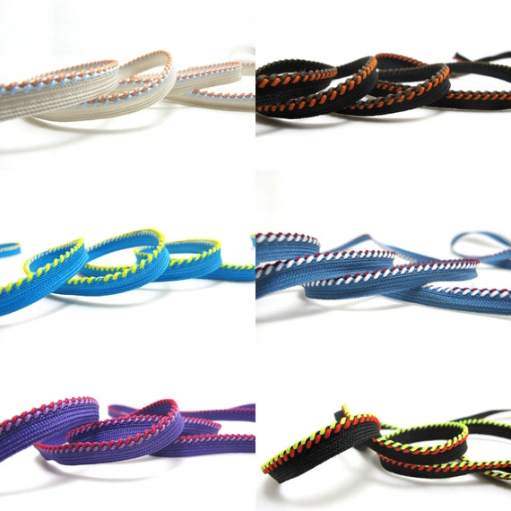 5 Yards 3 8 Inch Two Color Twisted Braided Lip Cord Etsy
