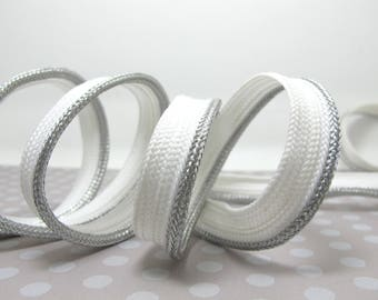 5 Yards 1/2 Inch Metallic Braided Lip Cord Trim|Piping Trim|Pillow Trim|Cord Edge Trim|Upholstery Edging Trim