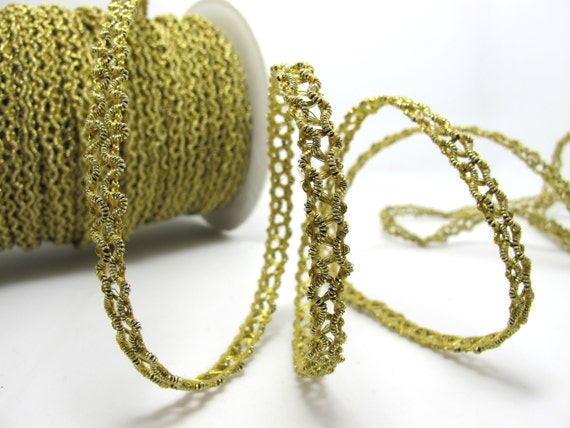 5 yd white /& yellow embellishment rope braid trim applique 6 mm