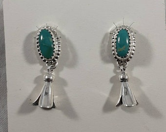 Fox Turquoise with Squash Blossom