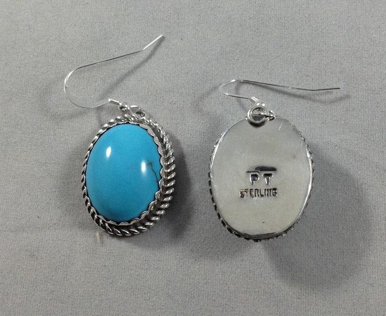 Blue Turquoise Earrings