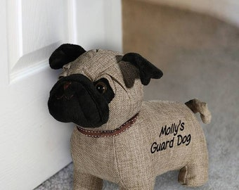 688c85334d9 Personalised Pug Door Stop - I LOVE PUGS! - Dog Lover Personalised