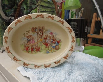 Bunnykins Vintage Royal Doulton Dish for child