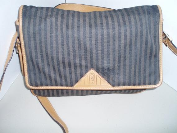 e7d31ab78568 ... switzerland fendi sas striped fabric shoulder bag crossbody etsy d13e8  3d6b1