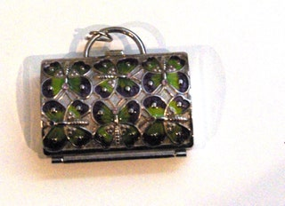 Jewelry Accessories, Vintage Mini Butterfly Purse by Judith Leber for Neiman Marcus, Coin Purse, Pill Box
