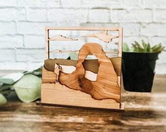 Delicate Arch Wooden 3D Landscape