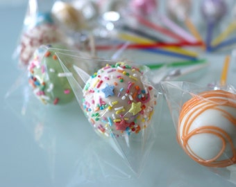PARTY FUN MEDLEY Assorted Cake Pops Favours | Bombonieres | Rainbow Carnival 16 set.