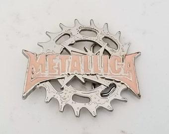 be2af5f1953 Boucle de ceinture Vintage Metallica rose