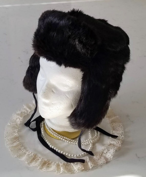 Vintage Russian Fur winter hat, fur hat, Soviet ha