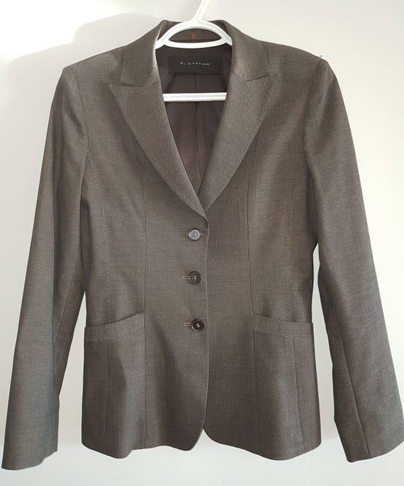 Vintage, Elie Tahari, grayish-brown Blazer, taupe