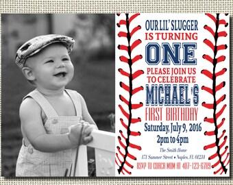 Baseball first birthday invitation Etsy