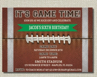 Football birthday invitation football party football football birthday invitation football invitation football party football birthday tailgate football printable stopboris Image collections