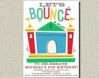Bounce House Birthday Invitation, Bounce House Invitation, Bounce House Party, Jump Invitation, Trampoline Birthday Invitation, Printable