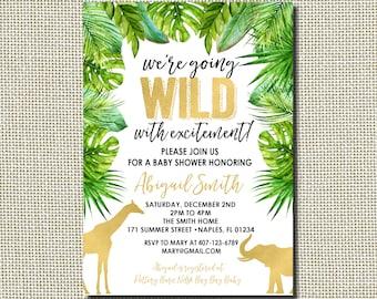 safari baby shower invitation etsy