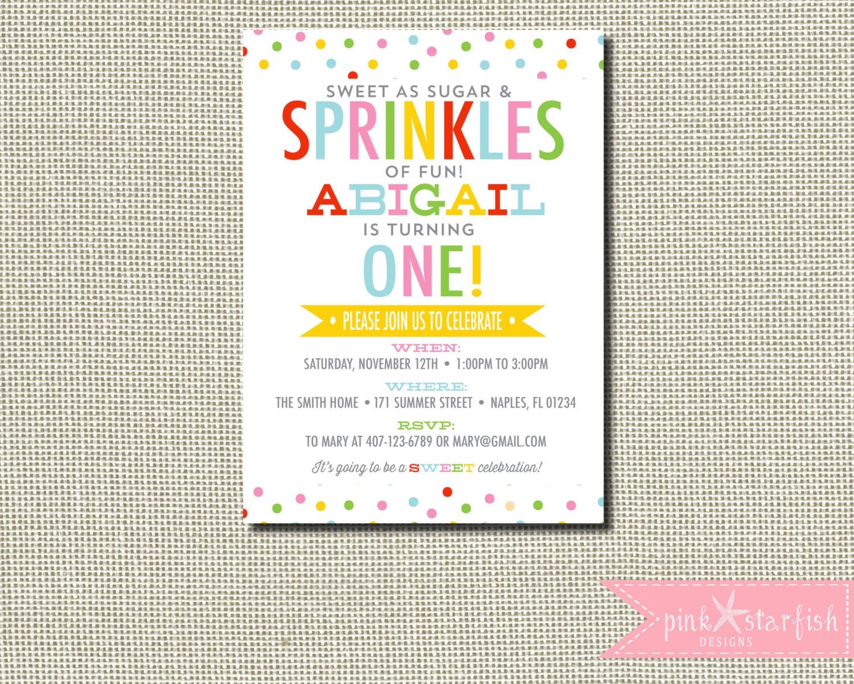 Cupcake Birthday Invitation Confetti Birthday Invitation | Etsy