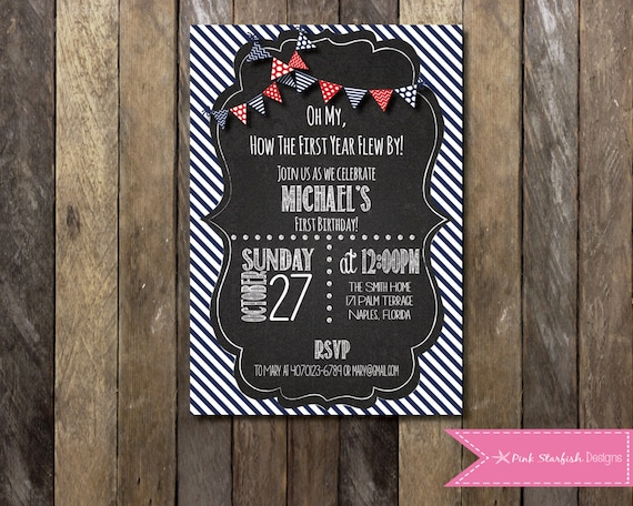Chalkboard first birthday invitation with picture chalkboard etsy image 0 filmwisefo