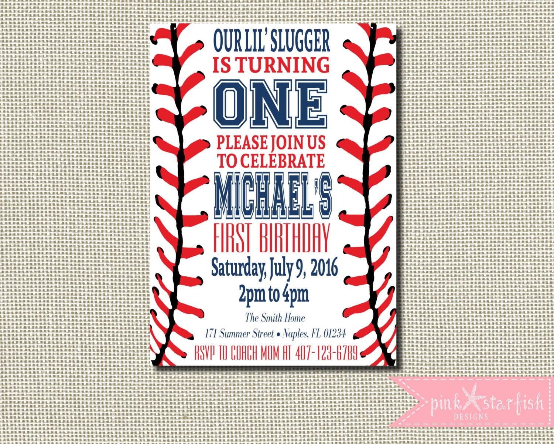 Baseball Invitation Baseball Birthday Invitation Baseball | Etsy