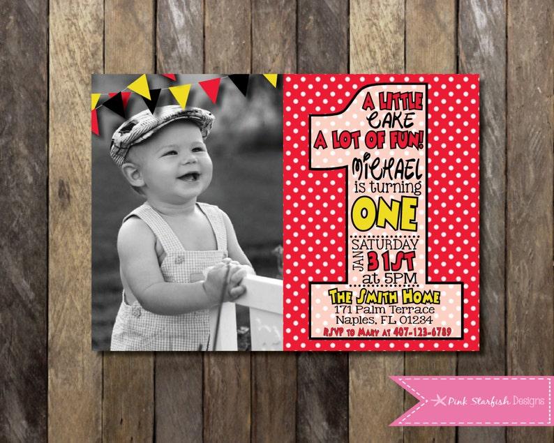 PRINTABLE First Birthday Mickey Mouse Invitation Minnie