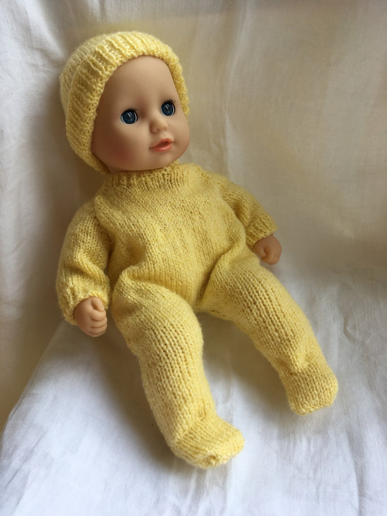 Baby Annabell Doll Sleep-suit Knitting Pattern DK | Etsy
