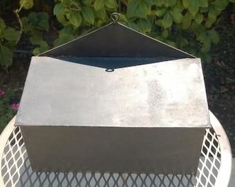 Antique Primitive Tin Wall Mount Candle Box
