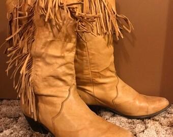 6f548b4759a2b Fringe cowboy boots | Etsy