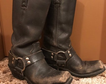 a8ebd581364 70s harness boots | Etsy