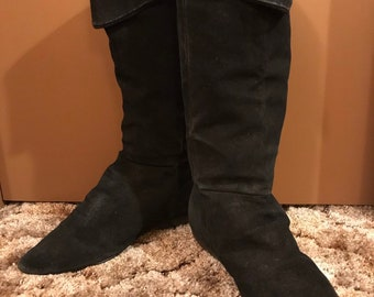 f6051d75cf903 Slouchy suede boots | Etsy
