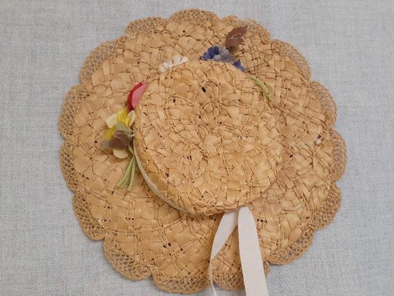 Edwardian Basket Weave Straw Tilt Hat AMAZING! 19… - image 6