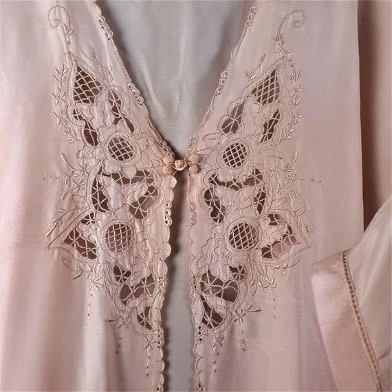 1920s 1930s 3 pc Silk Pajama Set - Art Nouveau Si… - image 6
