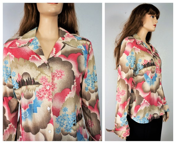 CLEARANCE Peter Max Style Psychedelic Blouse - Imp