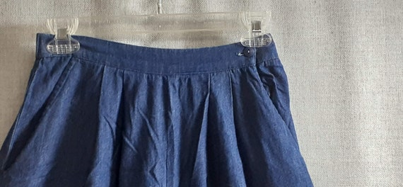 CLEARANCE 70's Denim Suede Wide Leg Pants - 70's … - image 5