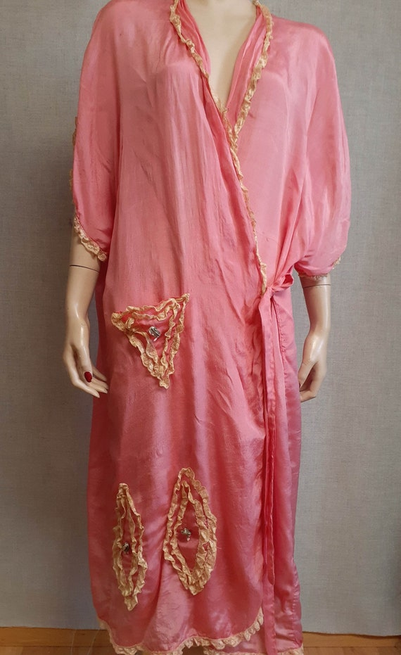 CLEARANCE - c:1910 French Trousseau Silk and Lace… - image 6