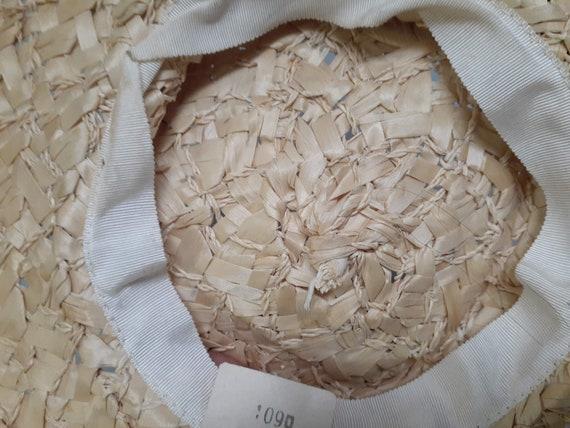 Edwardian Basket Weave Straw Tilt Hat AMAZING! 19… - image 8