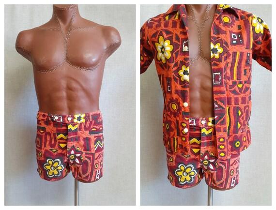Vng 50's Men's Cabana Swimsuit -  Mens Hawaiian Ca